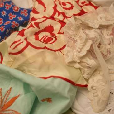 Vintage Doilies and Scarves