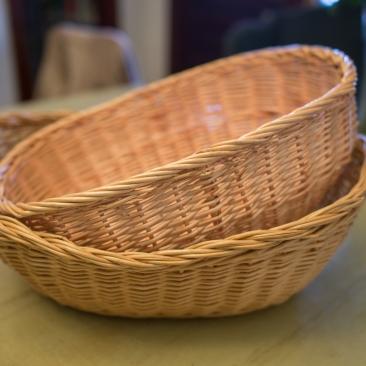 Natural Color Baskets ~ for bread, programs, favors, etc.