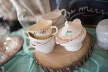 Tea Cups and Creamer