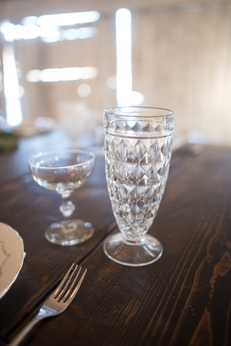 Left: Vintage Champage Coupe, Right: Water Goblet