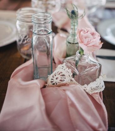 Satin Sashes in Blush Pink