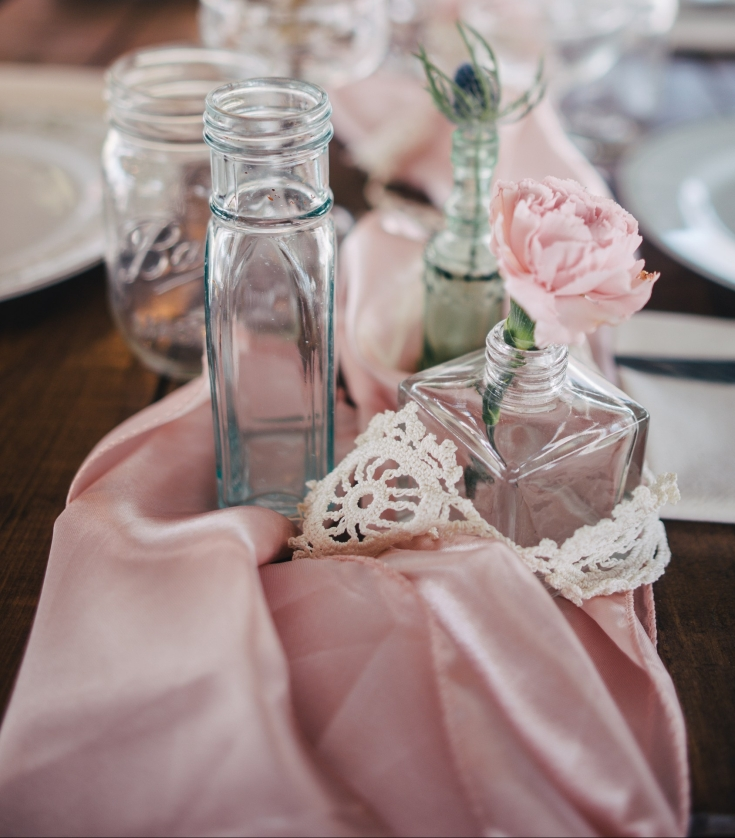 Satin Sashes in Blush Pink